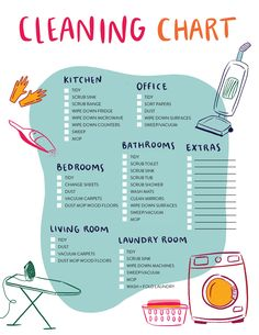 Cleaning chart - Our House Cleaning Schedule and Printable Checklist – Cleaning chart