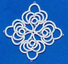 Resultado de imagem para Ankar tatting no pattern.  Tatted snowflake motif