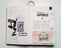 Art journal notebook