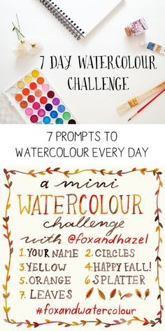 7 Day Watercolour Challenge