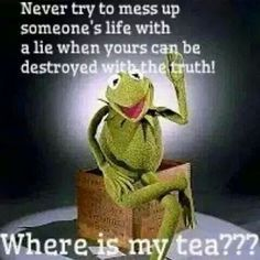 "Kermit the Frog memes like to call ""Minding Your Own Business."""