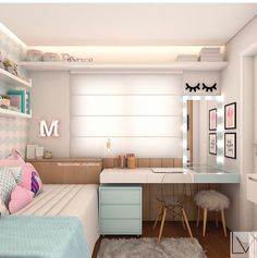 Ideas for bedroom desk wall decor Modern Teen Bedrooms, Trendy Bedroom, Small Room Bedroom, Bedroom Decor, Bedroom Ideas, Kids Bedroom, Bedroom Bed, Warm Bedroom, Wall Decor