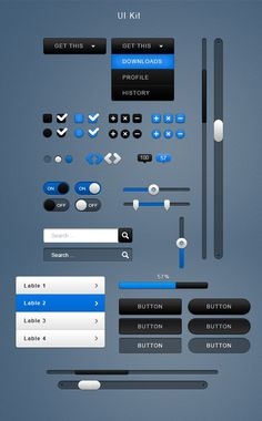 User Interface Kit by ~mygreed on deviantART
