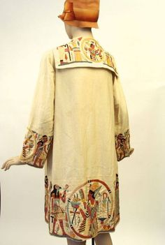 * Applique embroidered Egyptian revival silk coat, late 1920s, unlabelled. Made for the elite tourist trade, these silk coats were popular purchases on the Grand Tour. CLICK to enlarge