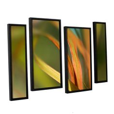 Autumn Grass by Cora Niele 4 Piece Floater Framed Graphic Art Set