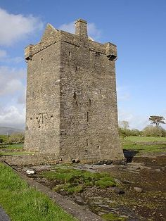 Rockfleet Castle, County Mayo, Ireland: built in the mid-16th century, a tower house, four floors, built in the sea and at high tide you get wet trying to access it. Open to visitors, has crow's nests, secret passages in the walls and spiral staircases. Once a home of Pirate Queen Grace O'Malley.