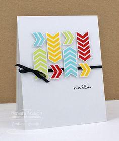 Birthday Hello - Handmade Card