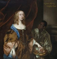 Sir Peter Lely Soest 1618 London Elizabeth Murray Lady Tollemache Later Countess Of Dysart And Ss Lauderdale With A Black Servant Ham House