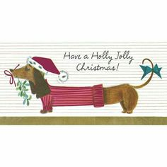 Set of 14 Dachshund Holiday Boxed Cards Holly Jolly Christmas Wiener Dog for sale online Wire Haired Dachshund, Mini Dachshund, Dachshund Puppies, Weenie Dogs, Daschund, Christmas Dachshund, Dachshund Quotes, Dachshund Rescue, Doggies