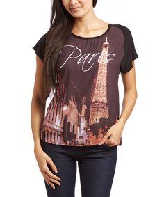 Black Paris Hi-Low Top