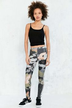 Shop adidas Originals By Rita Ora Kimono Print Legging at Urban Outfitters today. Sneakers To Work, How To Wear Sneakers, Sport Fashion, Girl Fashion, Womens Fashion, Athletic Looks, Sporty Girls, Tights Outfit, Rita Ora