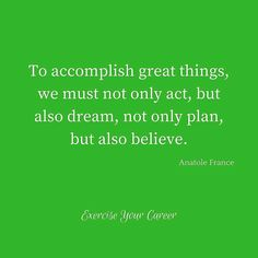 Great quote!@exerciseyourcareer
