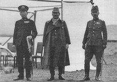 [Photo] Japanese Admiral Kiyoshi Hasegawa, General Iwane Matsui, and Prince Yasuhiko of Asaka at a memorial for fallen Japanese soldiers in Nanjing, China, 18 Dec 1937   World War II -Pin it by GUSTAVO BUESO-JACQUIER