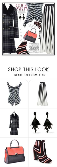 """""""Cool Party Mix"""" by paperdollsq ❤ liked on Polyvore featuring Vivienne Westwood, Tome, Oscar de la Renta, Salvatore Ferragamo and patternmixing"""