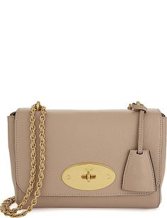629e5ce121 Crafted in the label's classic soft-grain natural leather, Mulberry's Lily  shoulder bag is