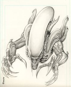 Alien by *keucha on deviantART
