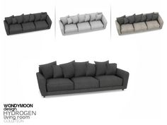 - Hydrogen Living - Sofa Found in TSR Category 'Sims 4 Sofas & Recliners' Living Room Sims 4, Sims 4 Cc Furniture Living Rooms, Sims 4 Bedroom, The Sims 4 Pc, Sims 4 Teen, Sims Cc, Sims 4 Mods Clothes, Sims 4 Traits, Muebles Sims 4 Cc