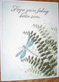 Get Well Ferns by Nan Cee's - Cards and Paper Crafts at Splitcoaststampers