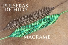tutorial pulsera de hilos ancha pulseras faciles | friendship bracelets macrame tutorial