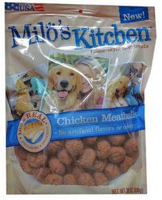 Milo`s Kitchen Chicken Meatballs, 30oz $22.22 (26% OFF) + Free Shipping