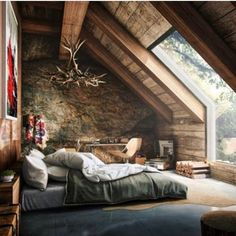 Master bedroom attic design and 60 attic bedroom ideas many designs 39 attic rooms cleverly making use of 15 attic bedrooms that will make you cool attic bedroom design ideas … Sweet Home, Attic Bedrooms, Upstairs Bedroom, Master Bedrooms, Cabin Bedrooms, Attic Living Rooms, Upstairs Loft, Modern Bedrooms, Master Suite