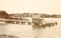 Drummoyne Wharf on the Parramatta River, west of Sydney. Historical Images, The Old Days, Sydney Australia, South Wales, Back In The Day, Old Photos, Paris Skyline, 19th Century, Past