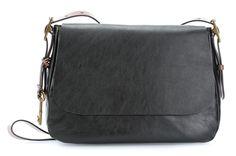 wardow.com - #Fossil Harper L Schultertasche Leder schwarz 34 cm #blackwhite #color #fashion #bag