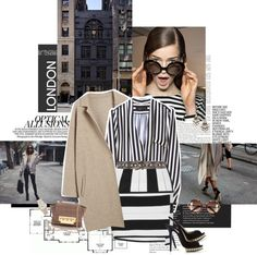 """""""Read between the stripes."""" by sa3ina on Polyvore"""