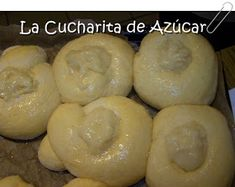 La cucharita de azúcar: Panes dulces rellenos con crema Doughnut, Elba, Food And Drink, Desserts, Ideas, Spoons, Breads, Fairy Cakes, Pastries