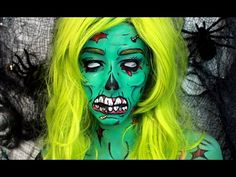 Zombie Halloween Makeup Tutorial - YouTube