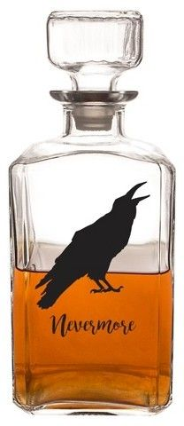 Cathy Halloween Raven Decanter. From Fiesta, this Halloween plate features: owl motif in center ceramic approx. 9 in. diameter Made in USA.(Ad)