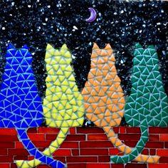 Mosaic Tile Designs, Mosaic Tile Art, Mosaic Diy, Mosaic Crafts, Mosaics, Mosaic Garden Art, Mosaic Flower Pots, Free Mosaic Patterns, Mosaic Art Projects