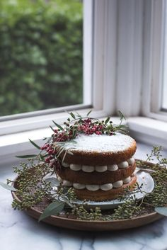 sweet potato and ginger cake with vanilla rum buttercream // ohhoneybakes.com