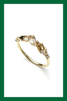 Everything You Need To Consider When Engagement Ring Shopping #refinery29  http://www.refinery29.com/guide-to-buying-engagement-rings#slide-20  Note how each of the gems on this Alexis Bittar ring has four prongs to hold them in place.