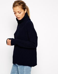ASOS Jumper With High Neck In Chenille