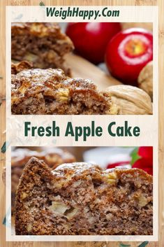 Fresh Apple Cake is a Delightful Use for Extra Apples - To Better Health Apple Desserts, Apple Recipes, Sweet Recipes, Delicious Desserts, Baking Recipes, Fresh Apple Cake, Fresh Apples, Apple Cakes, Apple Pie