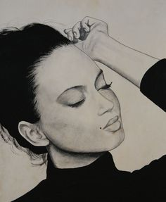 Girl... #portrait #pencil #pencilart #charcoal #charcoalart #blackandwhite #painting