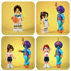 lego minifig serie6 genius Friends wish