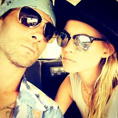 Meet Mr. and Mrs. Levine! Adam Levine shared the first picture of himself and his new wife Behati Prinsloo since tying the knot last month in Mexico. Look at them rocking shades together!