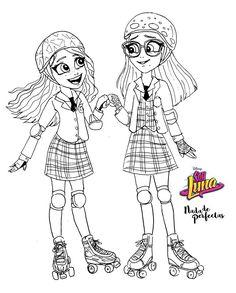 Luna e Nina Kawaii Disney, Cute Disney Drawings, Kawaii Drawings, Coloring Books, Coloring Pages, Chibi Kawaii, Image Fun, Dibujos Cute, Son Luna