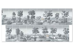 "PAUL MONTGOMERY STUDIO | Virginia Gray | 23,500.00 retail, set | each panel 36"" x 84"" 