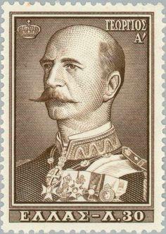 Issued on: George I King George I, Postage Stamp Art, Stamp Collecting, Vintage Ads, Letterpress, Greece, Street Art, Andorra, Airmail