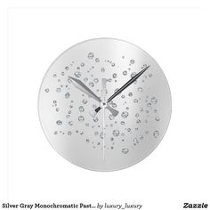 Shop Mint Gray Monochromatic Pastel Swarovski Crystal Round Clock created by luxury_luxury.