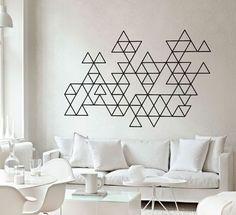 BOL KAHVELİ | Hoş Sohbetli Bayan Blogu : Duvarlarda Yeni Şıklık - Geometrik Desenler!