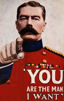 WWI Recruitment poster with Earl Kitchener. -Popperfoto/Getty