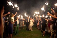 Picture perfect sparkler send off  Photograph by Diana Deaver Weddings http://www.storyboardwedding.com/an-intimate-rustic-private-home-wedding-with-a-french-feel-window-pane-guest-book/