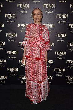 Franca Sozzani attends the Fendi Roma 90 Years Anniversary Welcome Cocktail at Palazzo Carpegna on July 7, 2016 in Rome, Italy.