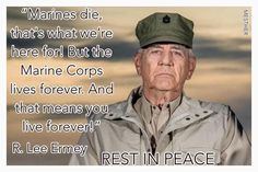 You are immortalized on the silver screen, Gunny. You WILL live forever as well! Military Quotes, Military Humor, Military Veterans, Military Life, Marine Corps Humor, Us Marine Corps, Once A Marine, Marine Mom, Usmc Quotes