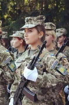 New recruits in the Ukrainian army. Women join up to fight Russian aggression. 1.9.2014