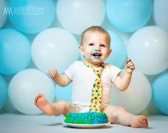 cake smash balloon backdrop